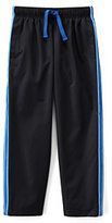 Classic Boys Mesh Lined Track Pants-White/Rich Red