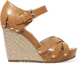 MICHAEL Michael Kors Somerly leather espadrille wedge sandals