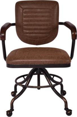 Alliance Furniture Martin Desk Chair Vintage Brown