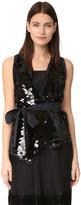 Rochas Mix Sequin Vest Top