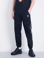 Marcelo Burlon County of Milan Geometric-print relaxed-fit cotton-twill jogging bottoms