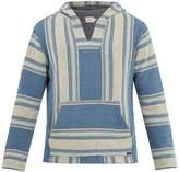 Faherty Baja striped cotton poncho