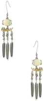 House Of Harlow Two-Tone Etched Chandelier Earrings