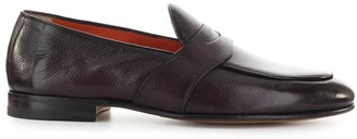Santoni College Dark Brown Loafers