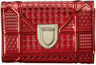 Christian Dior Diroama Patent Tri-Fold Wallet