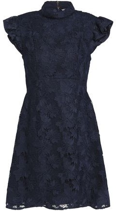 Rachel Zoe Lace Turtleneck Mini Dress