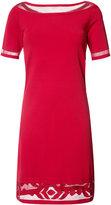 D-Exterior D.Exterior - sheer trim midi dress - women - Viscose/Polyester - XS