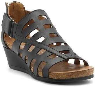 Adrienne Vittadini Tegan Caged Wedge Sandal