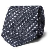 Ermenegildo Zegna 8cm Textured Silk-Blend Tie