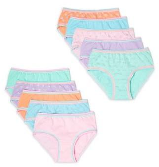 Wonder Nation Girls 4-18 & Plus Hispter Underwear, 10 Pack