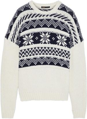 Maje Mockoon Fair Isle Intarsia-knit Sweater