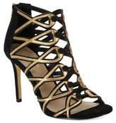 424 Fifth Gizelle Suede Cage Heels