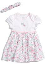 Little Me Infant Girl's Butterflies Skirted Bodysuit & Headband Set