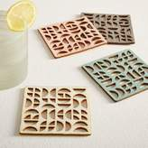 west elm Molly M Semi-Quarter Felt Coasters - Set of 4