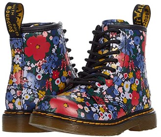 Dr. Martens Kid's Collection 1460 Wanderflora (Toddler) (Black Hydro Leather) Kid's Shoes