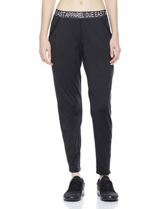 Equipment Due East Apparel Women's Full Length Workout Leggings Athletic Yoga Pants with Wide Waistband Large