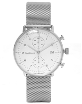 Junghans Stainless Steel Milanese Max Bill Chronoscope Watch