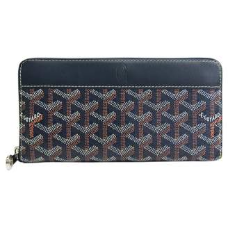 Goyard Matignon Navy Cloth Wallets