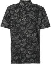 Michael Bastian leaf print shirt