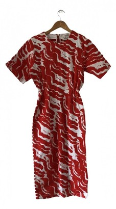 Petit Bateau Red Cotton Dress for Women