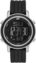 Skechers Womens Black Silicone Strap Digital Chronograph Watch