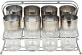 One Kings Lane Vintage 1960s Silver-Fade Glass Tumblers, S/9