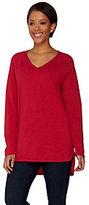 C. Wonder As Is Essentials V-neck LS Slub Knit Tunic