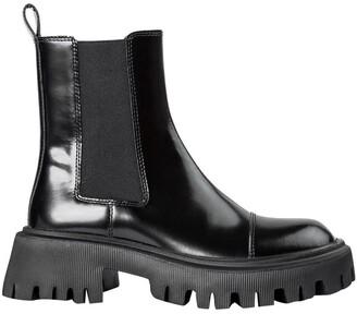 Tony Bianco Savant Black Hi Shine Ankle Boots