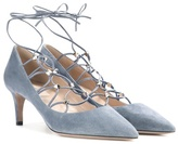 Valentino Garavani Rockstud suede lace-up pumps