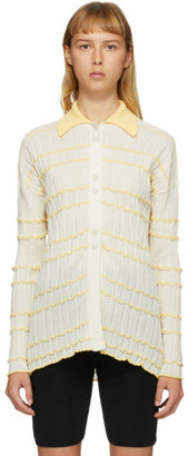Off-White RUS SSENSE Exclusive and Yellow Reflet Cardigan