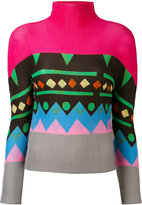 Issey Miyake geometric print jumper - women - Polyester - One Size