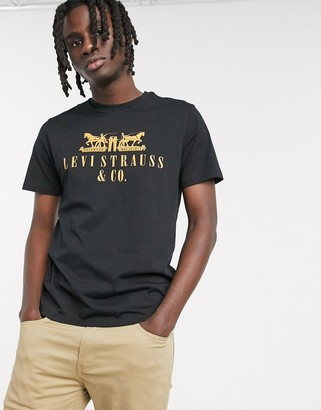 Levi's Youth 2-horse logo t-shirt in mineral black