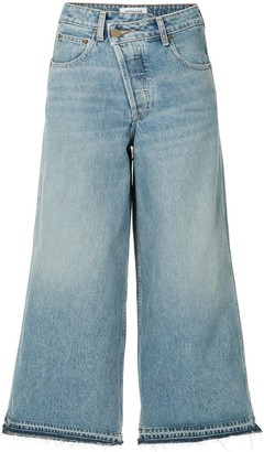 Monse Wide-Leg Cropped Jeans