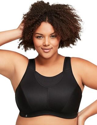 Glamorise Elite Performance Full Figure Plus Size No-Bounce Cami Wirefree Sports Bra #1067