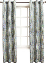 Sun Zero Sun ZeroTM Allen Diamond Pattern Room-Darkening Grommet-Top Curtain Panel
