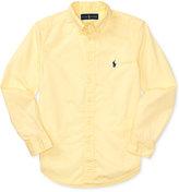 Ralph Lauren Lightweight Embroidered Cotton Shirt, Big Boys (8-20)