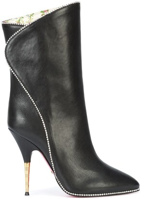 Gucci Crystal Embellished High Ankle Boots