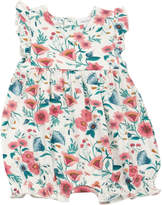 Angel Dear Vintage Floral Print Ruffle Romper, Size 0-12 Months