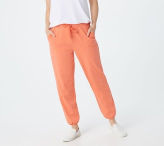 AnyBody Cozy Kind French Terry Petite Length Sweatpants