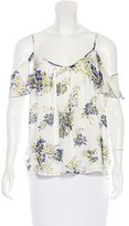 Joie Silk Off-The-Shoulder Top w/ Tags