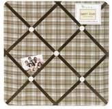 JoJo Designs Chocolate Teddy Bear Fabric Memory/Memo Photo Bulletin Board by Sweet