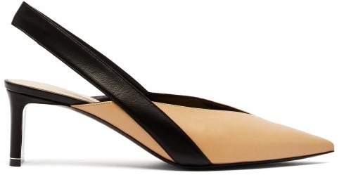 Nicholas Kirkwood Amira Two Tone Leather Slingback Pumps - Womens - Black Beige