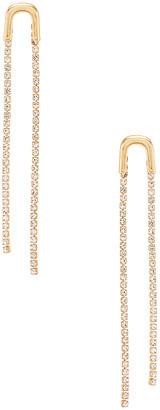 Ettika Double Crystal Drop Earring