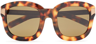 Linda Farrow Square-frame Gold-tone And Tortoiseshell Acetate Sunglasses