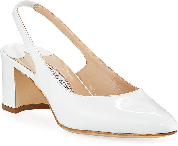a8e31135c3c2b Black And White Slingback Pumps - ShopStyle