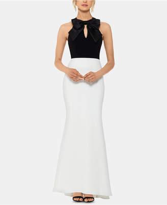Xscape Evenings Petite Bow-Top Gown