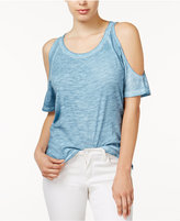 Sanctuary Heathered Cold-Shoulder Top