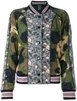 Coach printed reversible bomber jacket