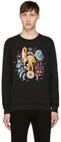 Paul Smith Black Embroidered Monkey Sweatshirt