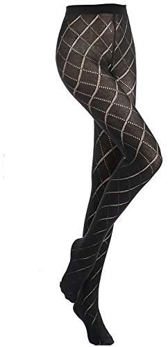 49eae3901 Black Pattern Tights - ShopStyle